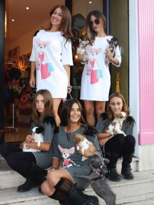maxi t-shirt chihuahua boutique shop