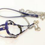 Pettorina con catena (blu)