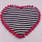 Sottociotola a forma di cuore double face (righe)