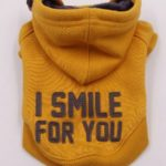 Felpa Smile gialla con cappuccio