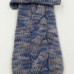 Maglioncino lana melange blue con treccia